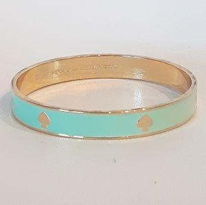 kate spade Jewelry - Kate Spade Logo Aqua Bangle Bracelet